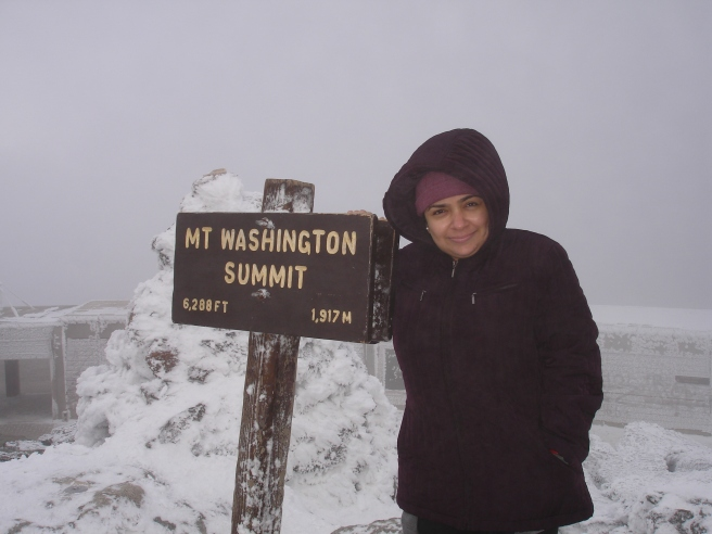 At the summit of mount washington auto road