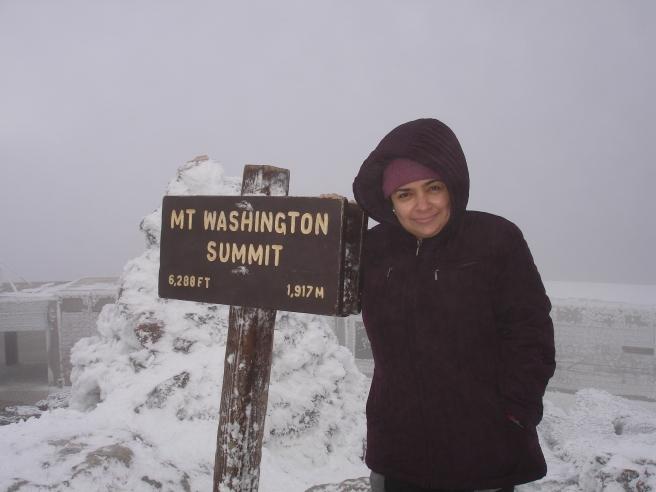 At the summit of mount washington auto road