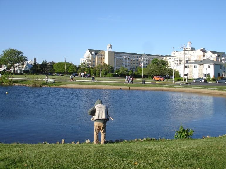 fishing at spring lake