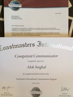 alok singhal - competent comunicator