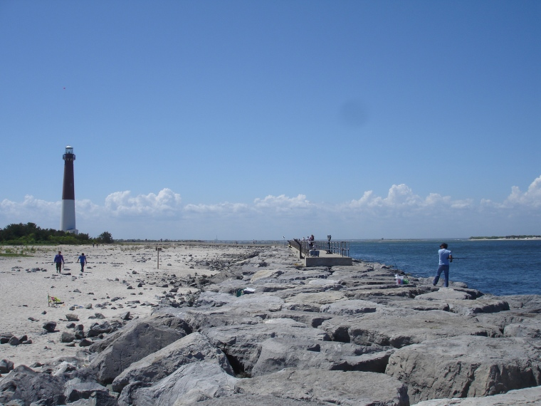 barnegat light house from some distance