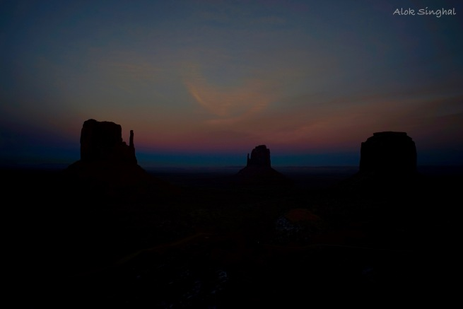 night shots at monument valley