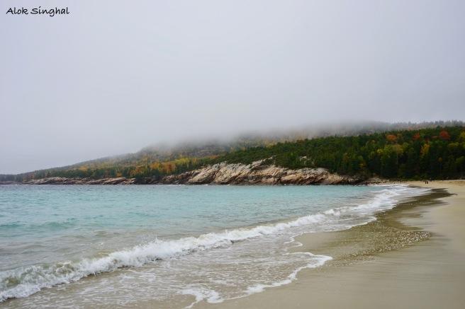 sand beach acadia np maine