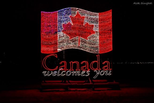 canadian american flag