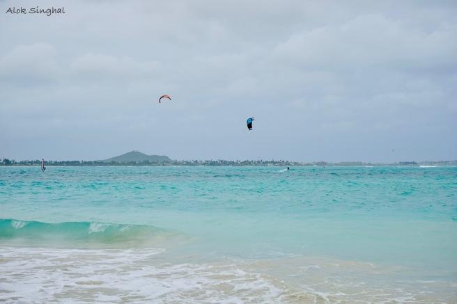 parasailing at lanikai